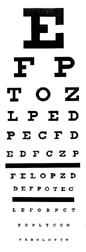 Snellen Chart to Measure Visual Acuity